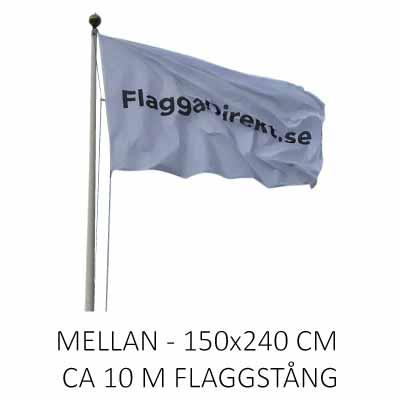 Flagga horisontal med eget tryck mellan