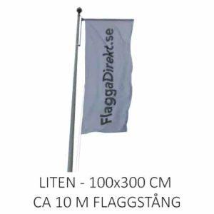 Vertikal flagga med eget tryck liten