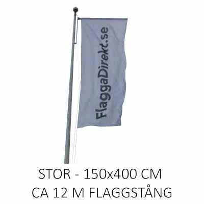 Vertikal flagga med eget tryck stor