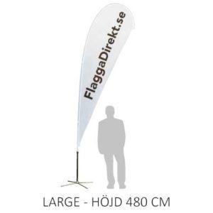 Beachflagga droppen storlek large