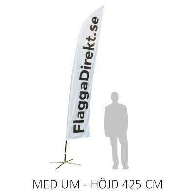 Beachflagga storlek medium