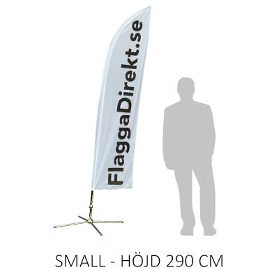 Beachflagga storlek small