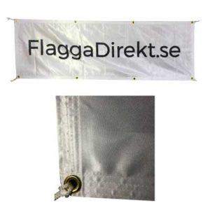Banderoll av glansig textil