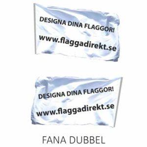 Fana i dubbel textil med tryck på båda sidor