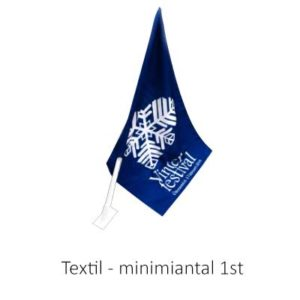 Fasadflagga till kiosk och butik. Tillverkad i textil.