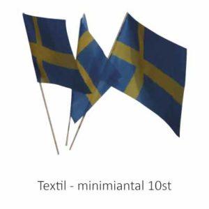 Supporterflaggor som handflaggor