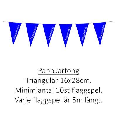 Flaggspel pappkartong triangulär