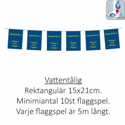 Flaggspel rektangulär vattentålig