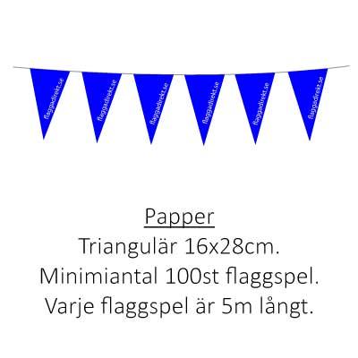 Flaggspel trekantig