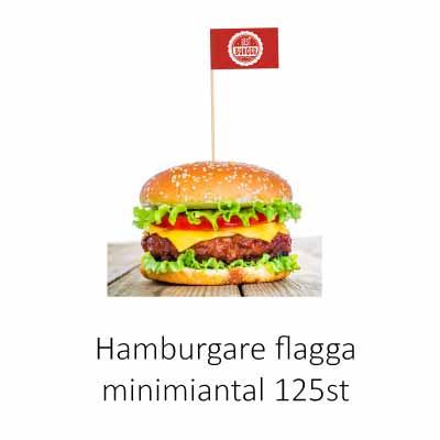 Flagga till hamburgare