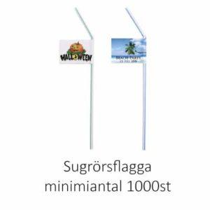 Flagga monterad på sugrör