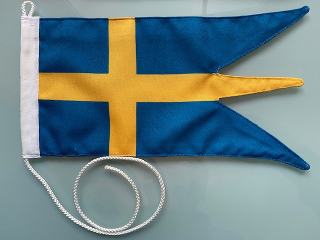 Svensk båtvimpel tre-tungad