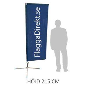 Rektangulär beachflagga -siluet